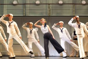 """In olden days a glimpse of stocking was looked on as something shocking but now God knows..."" Rachael York and the cast of The Roudabout Theatre Company's ""Anything Goes"""