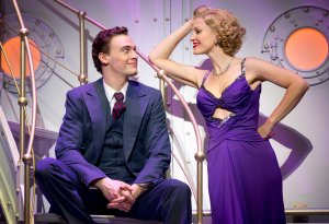 """I hate parading my serenading as I'll probably miss a bar, but if this ditty is not so pretty, at least it'll tell you how great you are."" Rachael York as Reno let's Erich Bergen as Billy know he's ""The Top"""