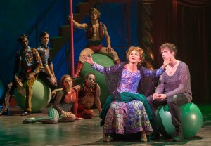 """""""When you are as old as I my dear--which I hope you never are..."""" Andrea Martin as Pippin's Grandmother, """"Berthe"""" reminisces with her """"Grand son"""" Matthew James Thomas"""