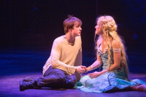 """They say the whole is greater than the sum of the parts it's made of..."" Matthew James Thomas as Pippin and Rachel Bay-Jones as Katherine sing a ""Love Song"""
