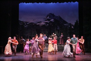 """""""Goin' Courtin'--It sees your senses in a whirl"""" (The cast of Rigby-McCoy Entertainment's """"Seven Brides For Seven Brothers"""")"""