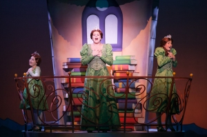 """I know he'll  appear, 'cause there are rules and there are strictures--I beleive the storybooks I've read!!"" (Melissa Wolklain is Fiona, with Hadley Belle Miller & Brennley Faith Brwon as her younger 'selves')"