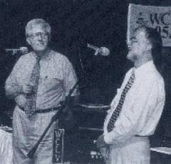 "Bill Rudman & WCLV FM President Robert Conrad Launch ""Broadway Melody"" In 1983"