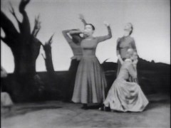 "Agnes DeMille Recreates Her Famous ""Civiil War Ballet"" Featuring Four Of Her Original Principal Dancers From The Hit Broadway Version"