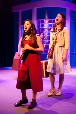 "Sophia Scarsi as the young Violet with her older ""self"", Nicole Cassesso"