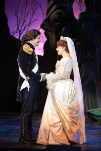 """To be happy--and forever, you must see your wish come true"" Tim Martin Gleason is The Prince with Jeanette Dawson as Cinderella"