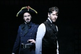 Randall Dodge as Javert confronts James Barbour as Jean Valjean