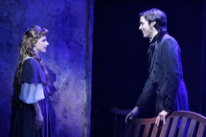 """A heart full of love..."" Marius (Nathaniel Irwin) professes love at first sight for Cosette (Kimberly Hessler)"