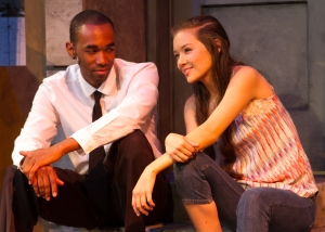 """Everything Is Better When You're Home"" Benny (Charles McCoy) tells Nina (Julia Cassandra Smith)"