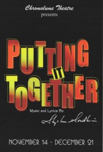 """The Chromolume Theatre"" At ""The Attic"" Presents ""Putting It Together"" November 14-December 21, 2014; 5429 Washington Blvd., Los Angeles, CA."
