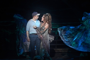 """""""Let me share a magic truth--a proof of all that thrives: the one's who face their fears lead the most interesting lives!"""" Molly Garner is """"The Witch"""" with Jeff Skowron as """"young"""" Edward"""