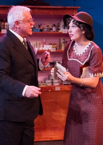 """I'm a very good sales-girl--really good! And I know the Parfumerie business inside and out!"" (Erika C. Miller As ""Amaila"" Entreats Beach Vickers As ""Mr. Maraczek"")"