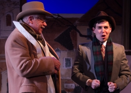 """I have trained myself- going shelf by shelf- and I know each item in the store."" (Daniel Jared Hersh is ""Arpad"" with Beach Vickers As ""Mr. Maraczek"")"