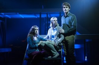 """Sing a song of forgetting--a song of the way things were not. Sing of what's lost to you--of times that you never knew"" ""The Goodman Family"": Alex Bodrero As ""Dan"", Elyssa Alexander As ""Diana"" & Kat Ljubic As ""Natalie"""