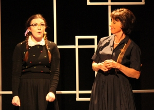 """Ma, I gotta tell you that without a doubt I got my best dancing lessons from you; you're the one who taught me how to ""twist and shout""--because you shout non-stop and you're so twisted too!"" Sarah Pierce Is ""Penny Pingleton"" With Karen Webster As Her Mother, ""Prudy"""
