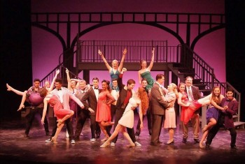 """We've got to turn you around and get your feet on the ground, now take a hold of your soul…"" (The cast of The Laguna Playhouse's are cutting loose in ""Footloose"")"