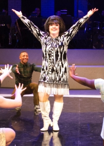 """You can try to stop the seasons, girl, but ya know you never will—and you can try to stop my dancin' feet, but I just cannot stand still!"" Taylor Hartsfield as ""Tracy Turnblad"" ""Just Can't Stop The Beat"""