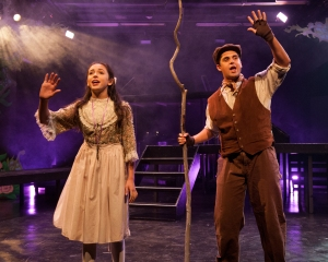 """""""When a thing is wick, it has a light around it--maybe not a light that you can see; but hiding down below a spark's asleep inside it, waiting for the right time to be seen!"""" Sophia Scarsi as """"Mary"""" and Brandon Taylor Jones as """"Dickon"""" await the Yorkshire Spring"""
