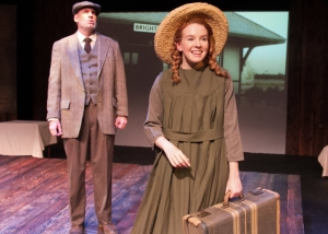 """Home! What lovely sound—almost Angelic! I don't know if I'll ever get used to it!"" Angela Griswold as ""Anne Shirley"" meets Corky Loupe as ""Matthew Cuthbert"""