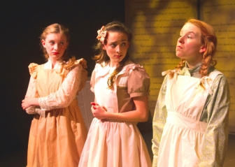 "Angela Griswold as ""Anne"" initially learns that ""School Days"" aren't always ""Golden Rule Days"" (especially with Maddie Bourgeois as ""Prissy Andrews"" and Emma Nossal as ""Josie Pye"")"