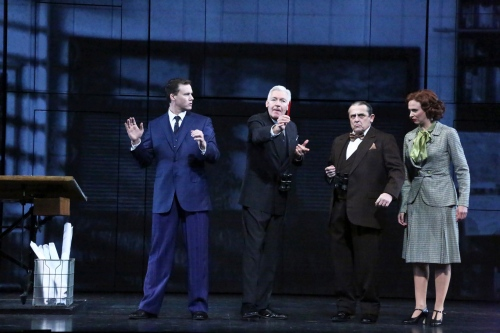 "Kevin Earley as fledgling Architect ""Michael Shaw"" learns from Tony Sheldon as Financier ""John Jakob Raskob"", Michael McCormick as former New York Governor ""Al Smith"" and Stephanie Gibson as his 'go-to gal', ""Frankie Peterson"" that to succeed you gotta have ""Moxie"" in the new musical ""EMPIRE"""
