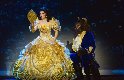 """New and a bit alarming--Who'd have ever thought that this could be? True that he's no 'Prince Charming' but there's something in him that I simply didn't see!"" Afton Quast as ""Belle"" is beginning to look at things in a different light with Alexander Mendoza as ""The Beast"""