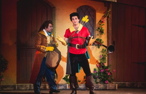 """No one's slick as Gaston, no one's quick as Gaston—no one's neck is incredibly thick as Gaston's…"" Cameron Bond is ""Gaston"" with Robert Ramirez as his ardent side-kick (--who gets kicked around) ""Lefou"""