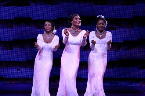 """Dreamgirls will never leave you...and all you have to do is dream, baby--we'll be there!"" Brittney Johnson as ""Lorrell, Jasmin Richardson as ""Deena"" and Danielle Truitt as ""Michele"" take center stage in ""The La Mirada Theatre For The Performing Arts"" production of Dreamgirls"""