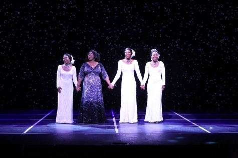 """We didn't make forever. We each got to go our separate way, and now we're standing here—helpless--looking for something to say."" Moya Angela as ""Effie"" reunites with Brittney Johnson as ""Lorrell"", Jasmin Richardson as ""Deena"" and Danielle Truitt as ""Michelle"" for one last concert where they all find it ""Hard To Say Goodbye""."