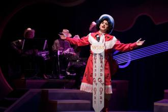 """I said Blue Moon of Kentucky, keep on a-shinin'--Shine on the one that's gone and left me blue…"" Nicole Cassesso as ""Patsy Cline"" raises the roof at ""The Grand Ol' Opry"" in One More Productions' ""Always…Patsy Cline"""