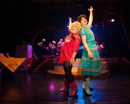 """Come on dad, get with the jive! Let's let em' know that we're alive!"" Dee Shandera as ""Louise Seger"" and Nicole Cassesso as ""Patsy Cline"" are out to prove they've ""Got A Lot Of Rhythm In My Soul"""