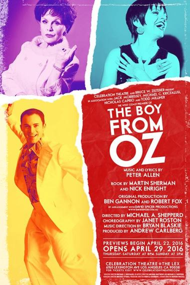 """The Celebration Theatre"" @ ""The Lex"" Presents The West Coast Premiere Of ""The Boy From OZ"" April 29th–June 19th 2016. 6760 Lexington Avenue, Los Angeles, CA (www.celebrationtheatre.com)"