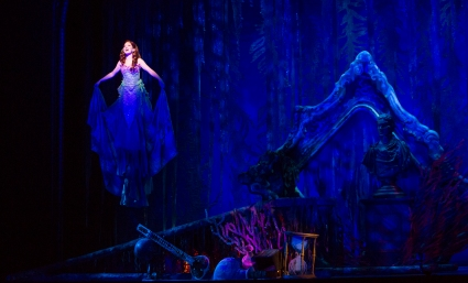 """Bet'cha on land they understand--bet they don't reprimand their daughters! Bright young women sick of swimmin', ready to stand!"" Alison Woods as ""Ariel"" dreams of life above on dry land in ""The La Mirada Theatre For The Performing Arts"" & McCoy-Rigby Entertainment's Production Of Disney's ""The Little Mermaid"""