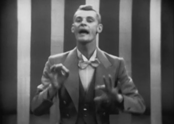 """What a show! What a situation! Can you conceive it? If you saw it on the stage you wouldn't believe it!"" Carlton Carpenter is ""Russell Paxton"" (Here as the ""Dream Ringmaster"" in ""The Circus Dream"" portion of ""Lady In The Dark"")"