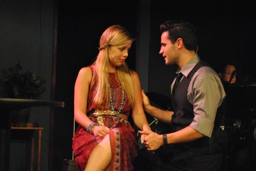 """""""Nothing about us was perfect or clear, but when Paradise calls me I'd rather be here"""" Matt Mancuso as """"Man 2"""" and Bailey Humiston as """"Woman 1"""" are reconciled lovers who finally discover """"I'd Give It All For You"""""""