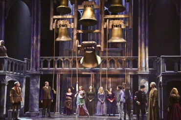 """Some say the soul of the city's the Toll of the Bells—The Bells Of Notre Dame"" The Company of ""The La Mirada Theatre For The Performing Arts"" & ""McCoy-Rigby Entertainment's"" 2016 production of ""The Hunchback Of Notre Dame"" prepare for their tale to unfold."