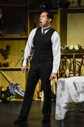 """""""This time we play with MY deck! Out of my way—it's MY neck! This time the set-up feels right, Bay, it's Opening Night!"""" Michael Cortez as """"Nick Arnstein"""" prepared to take a big gamble on business (and love) in """"The Conundrum Theatre Company's"""" Production Of """"Funny Girl"""""""