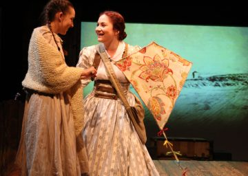 """Some things will never die—the promise of who you are, the memories when I am far from you"" Emma Nossal as ""Beth"" tries to explain to Ashley Arlene Nelson as her sister ""Jo"" that ""Some Things Are Meant To Be"" in The Chance Theater's ""Little Women—The Broadway Musical"""