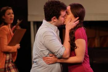 """""""I wish our lives could go on within the confines of this song; for once it end, what will be there? Only the silence I can't bear…"""" Jacob Zelonky as """"Steve"""" and Jillian Easton as """"Kate"""" find that a 'simple' kiss can lead to life-altering complications in """"The Chromolume Theatre's"""" production of """"Zanna, Don't!"""""""