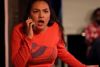 """""""Lord, I know the Bible says we should spread our love around, but my woman was gettin' 'Biblical' with every girl in town!"""" Vanessa Magula as """"Roberta"""" 'ain't got time' for nothing but TRUE Love in """"The Chromolume Theatre's"""" production of """"Zanna, Don't!"""""""